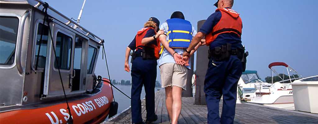 US Coast Guard arrests a man for boating under the influence