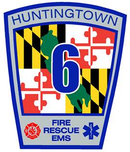 the huntingtown volunteer fire department logo