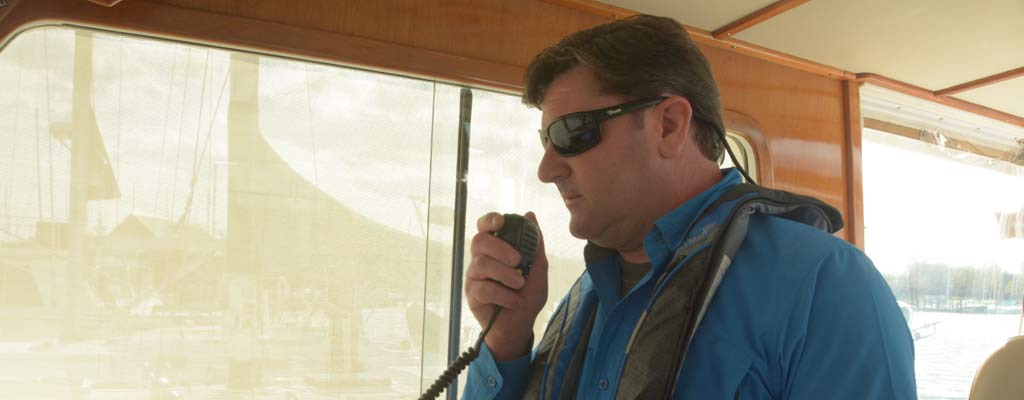 a man using a VHF radio