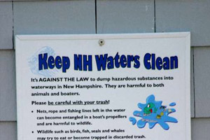 Help keep New Hampshire's Waters Clean