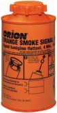 one orange smoke signal