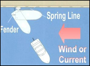 a diagram of spring line docking